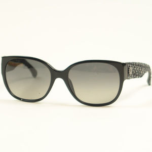 Chanel 5237 Black Tweed Polarized Sunglasses